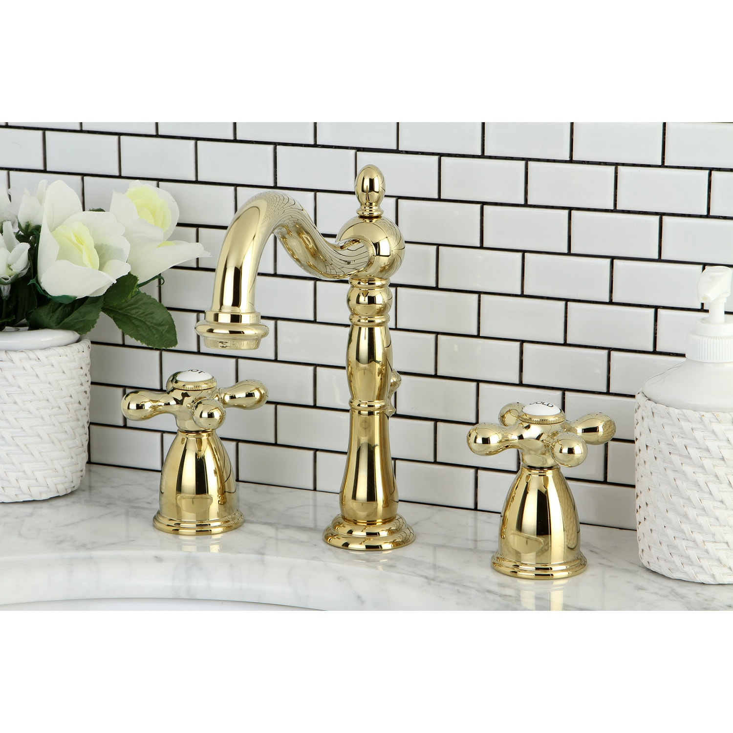 widespread home kingston sink full single faucet faucets handle bathroom polished of size designs brass
