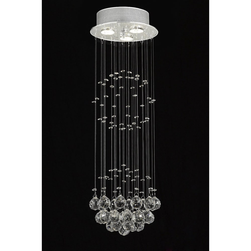 Gallery indoor 3 light chrome crystal ball chandelier free gallery indoor 3 light chrome crystal ball chandelier free shipping today overstock 13266791 arubaitofo Images