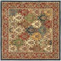 Safavieh Handmade Heritage Timeless Traditional Multicolor/ Burgundy Wool Rug (6' Square)