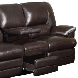 Shop Coney Coffee Italian Leather Reclining Sofa and Loveseat - Free ...