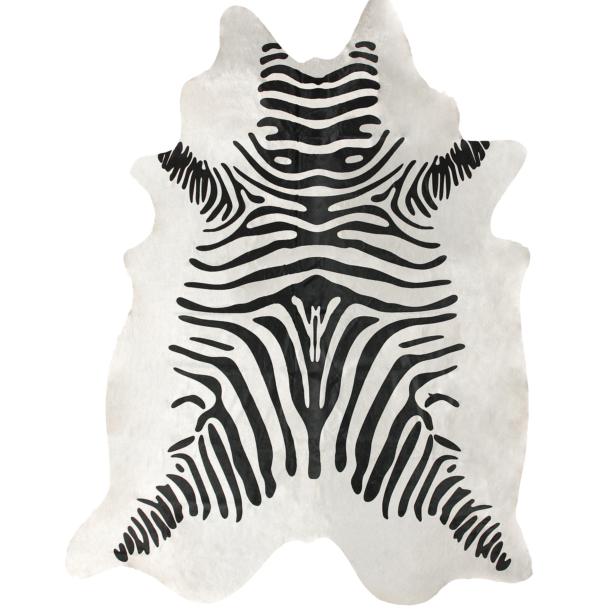 Nuloom Hand Picked Brazilian Black White Zebra Cowhide Rug 5 X 7 Free Shipping Today 13283870
