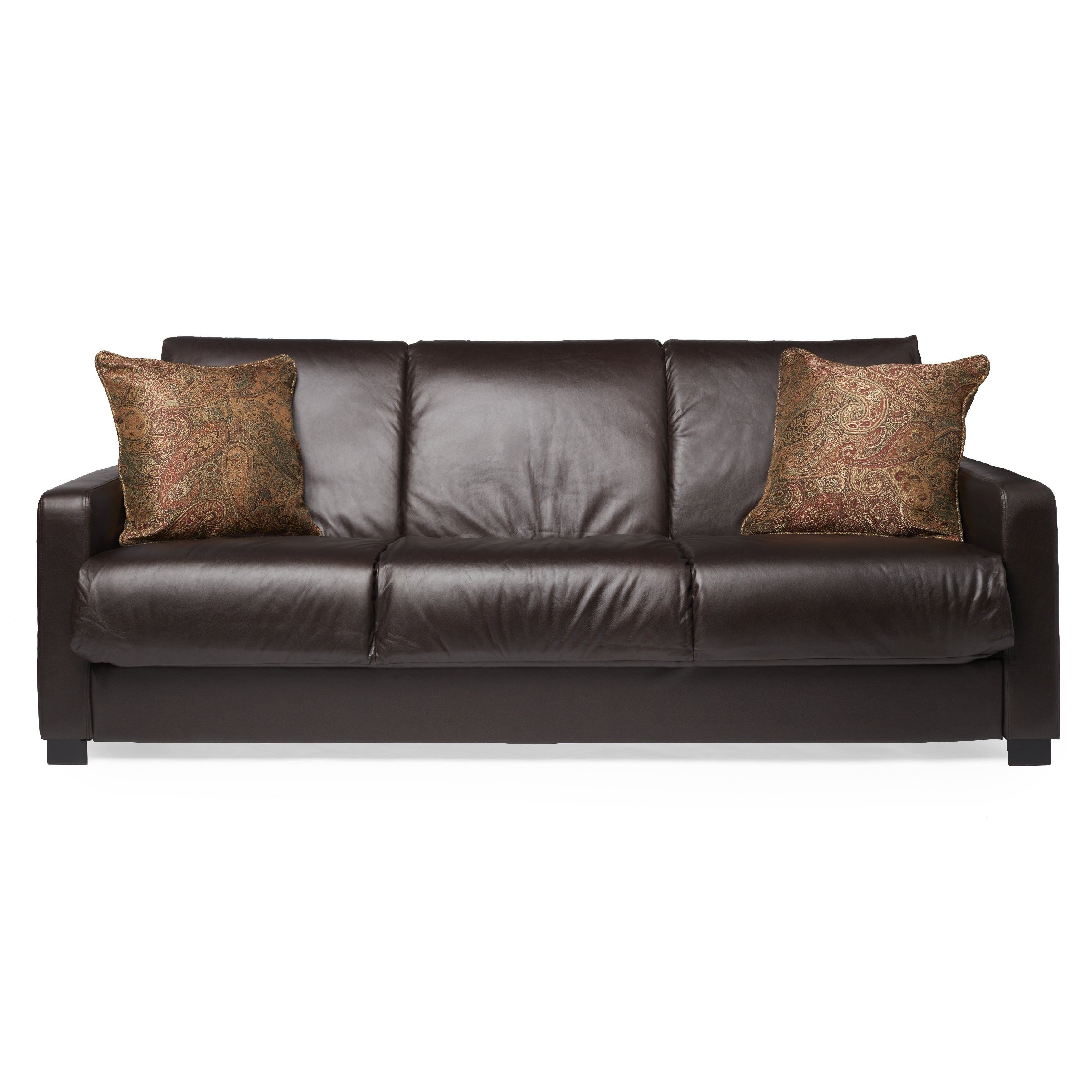 Leather Futon Sleeper In Espresso On Free Shipping Today Com 5503604