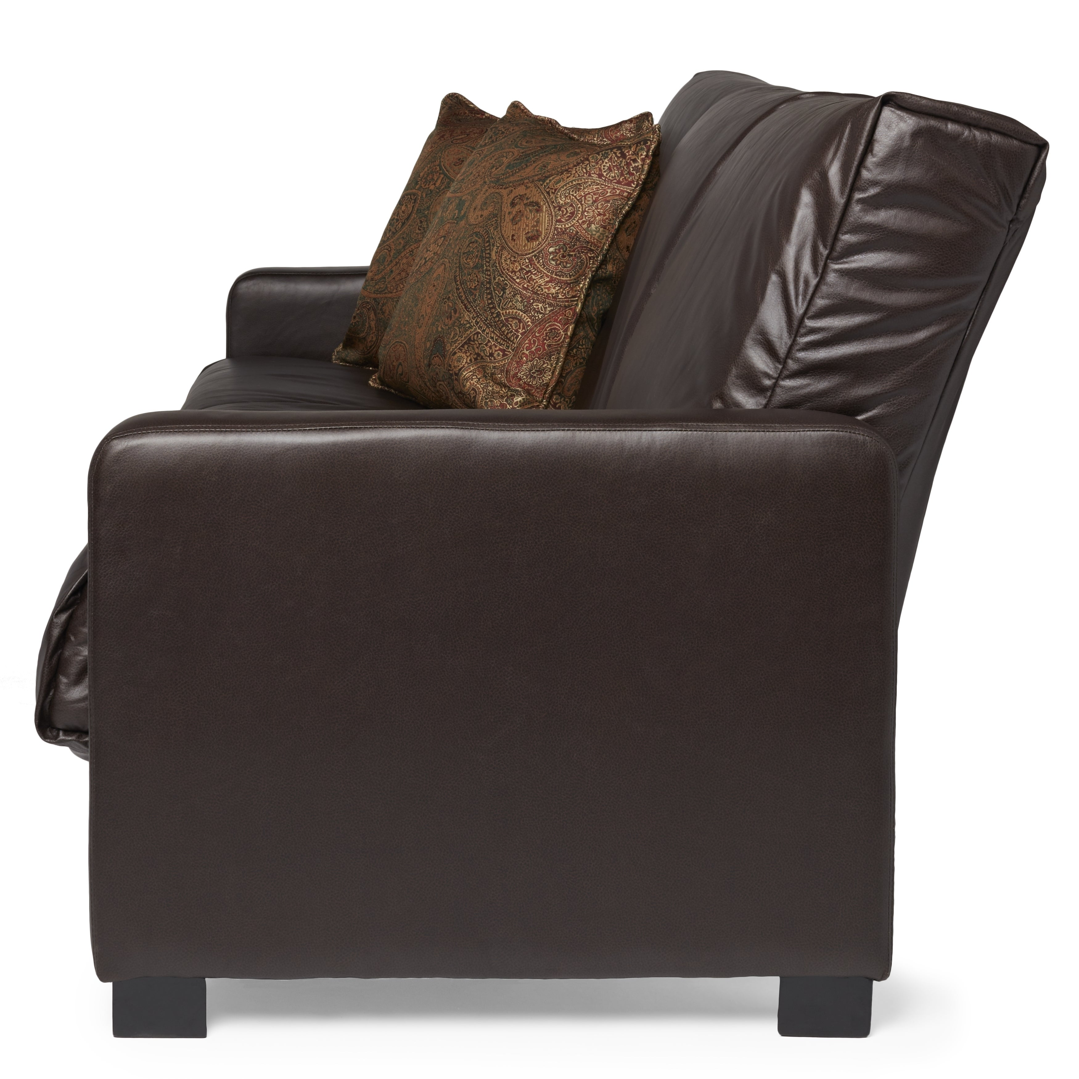 Leather Futon Sleeper in Espresso Free Shipping Today