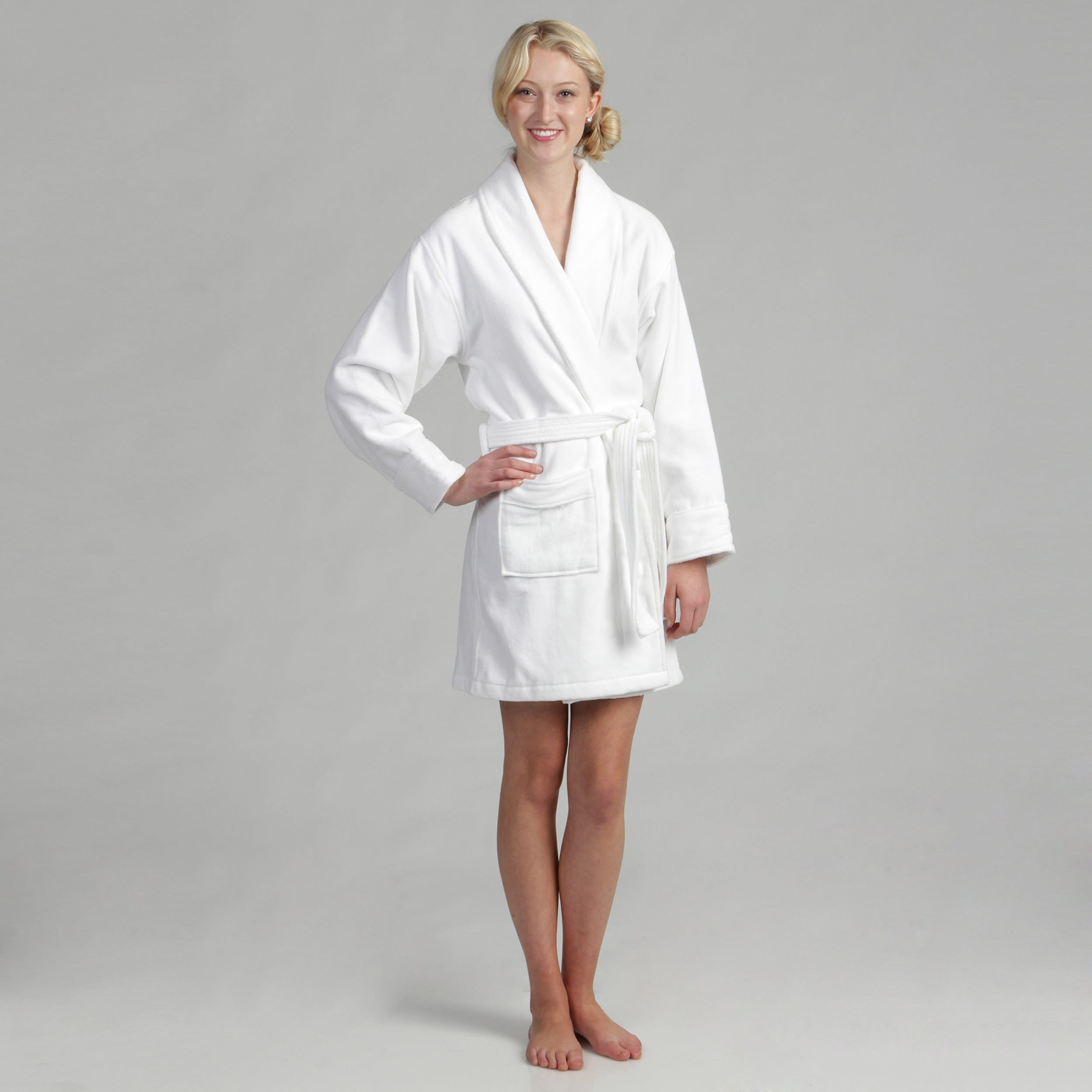 Shop Women s Cotton Terrycloth Bath Robe - Free Shipping On Orders Over  45  - Overstock - 5510173 87d769899
