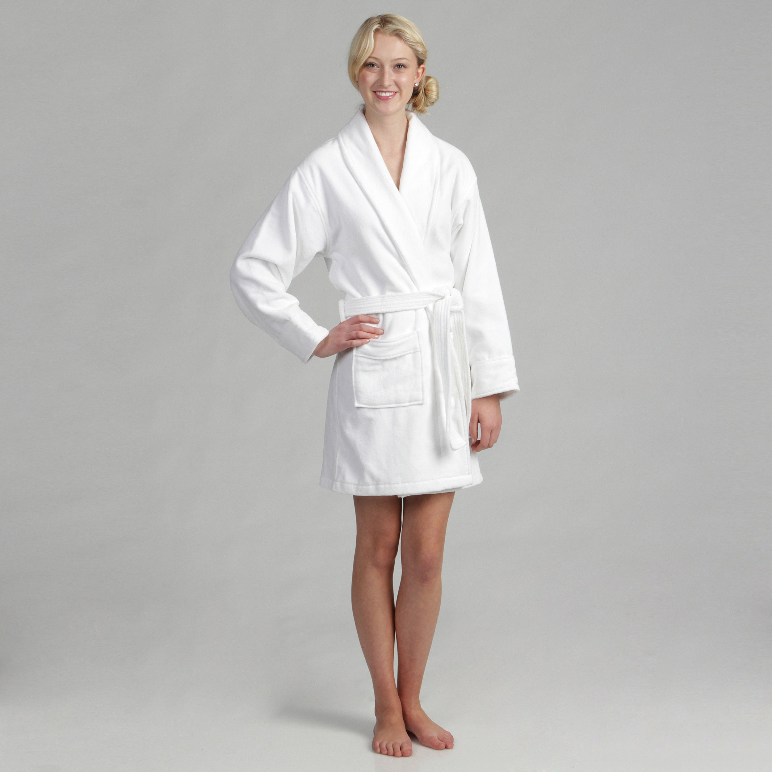 02374e979d Shop Women s Cotton Terrycloth Bath Robe - Free Shipping Today - Overstock  - 5510173