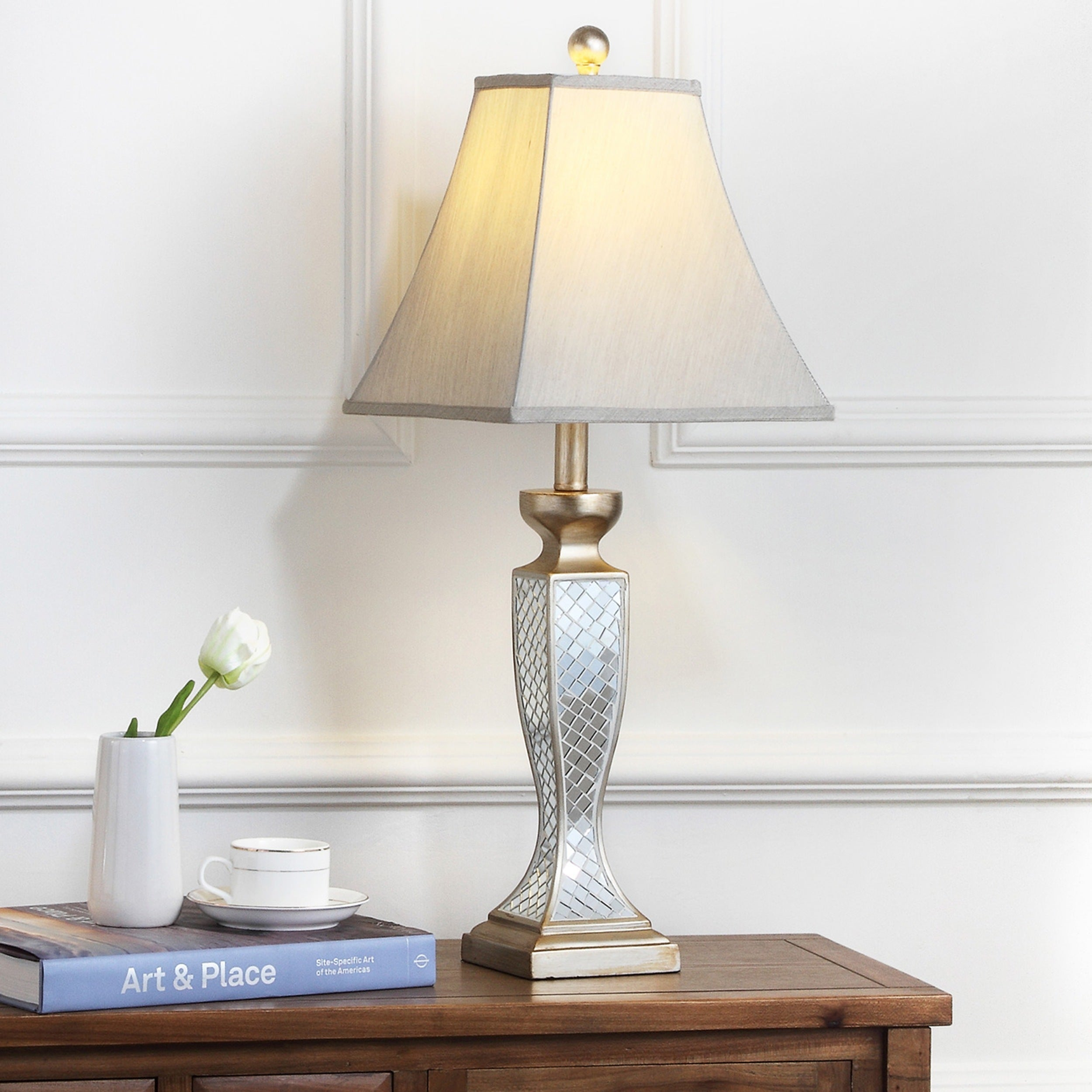 Safavieh Lighting 28 Inch Mirror Mosaic Table Lamp Set Of 2 Free Shipping Today 5517614