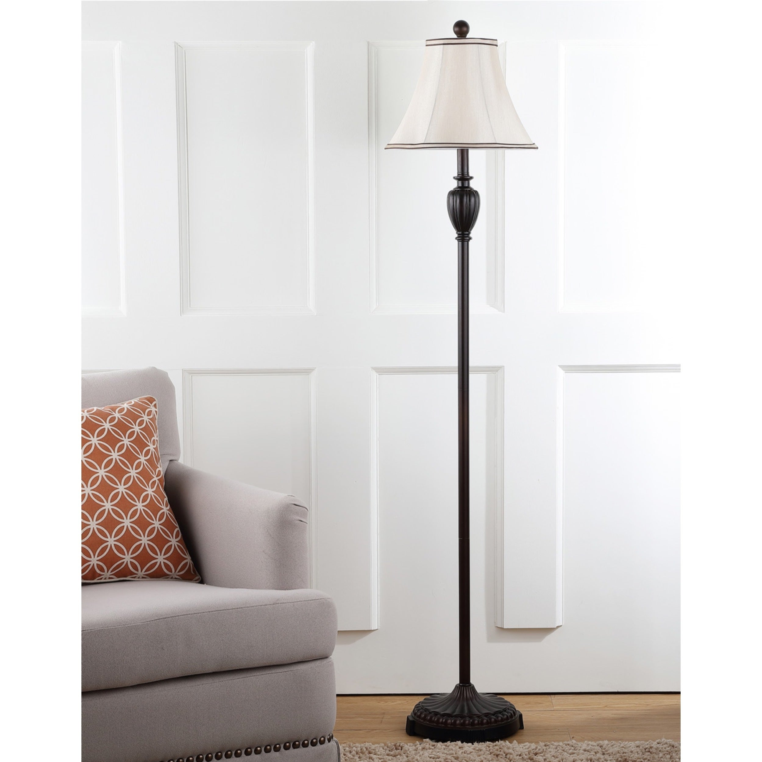 Shop safavieh lighting 61 inch antiqued steel classical floor lamp free shipping today overstock com 5517620