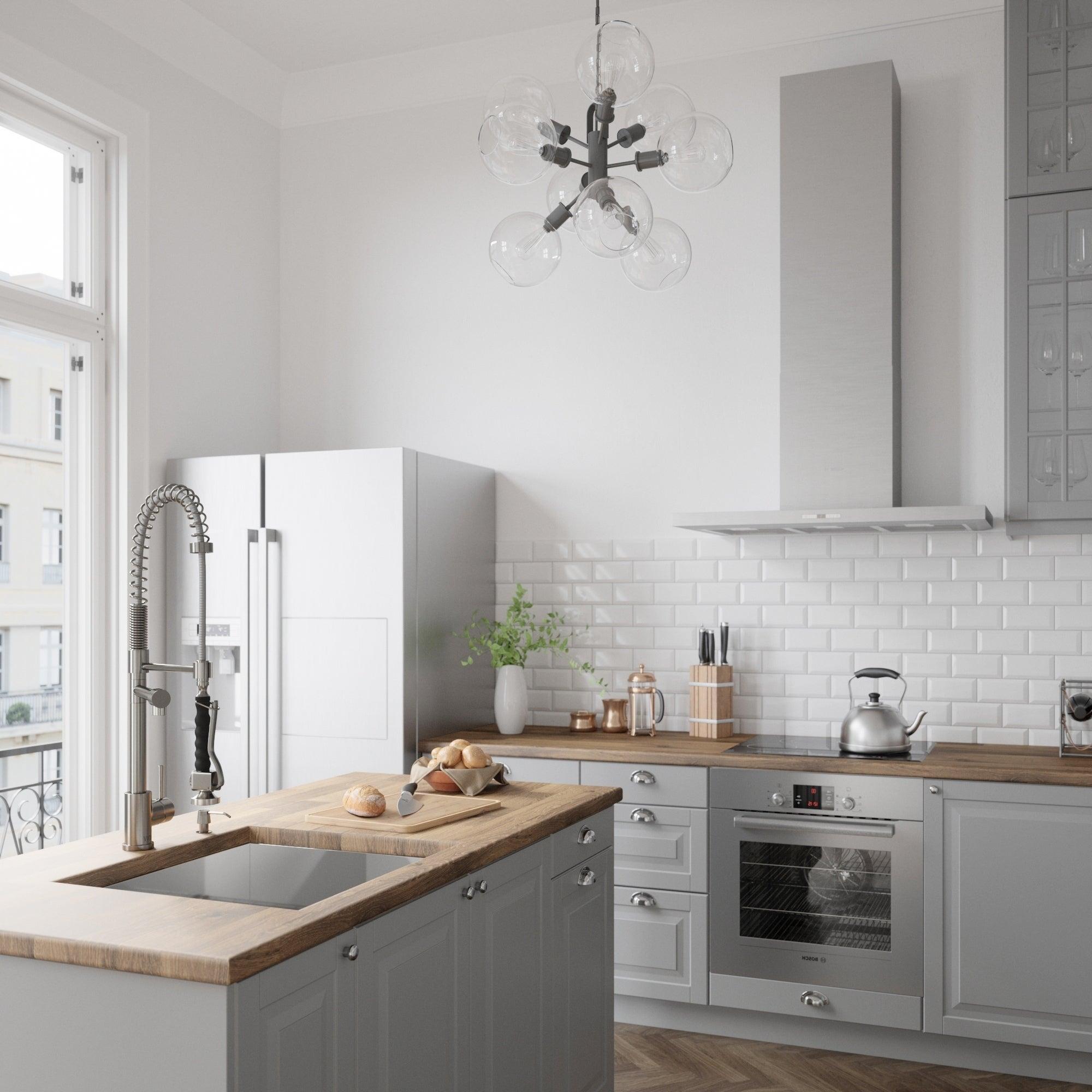VIGO Zurich Stainless Steel Single Handle Pull-Down Spray Kitchen ...