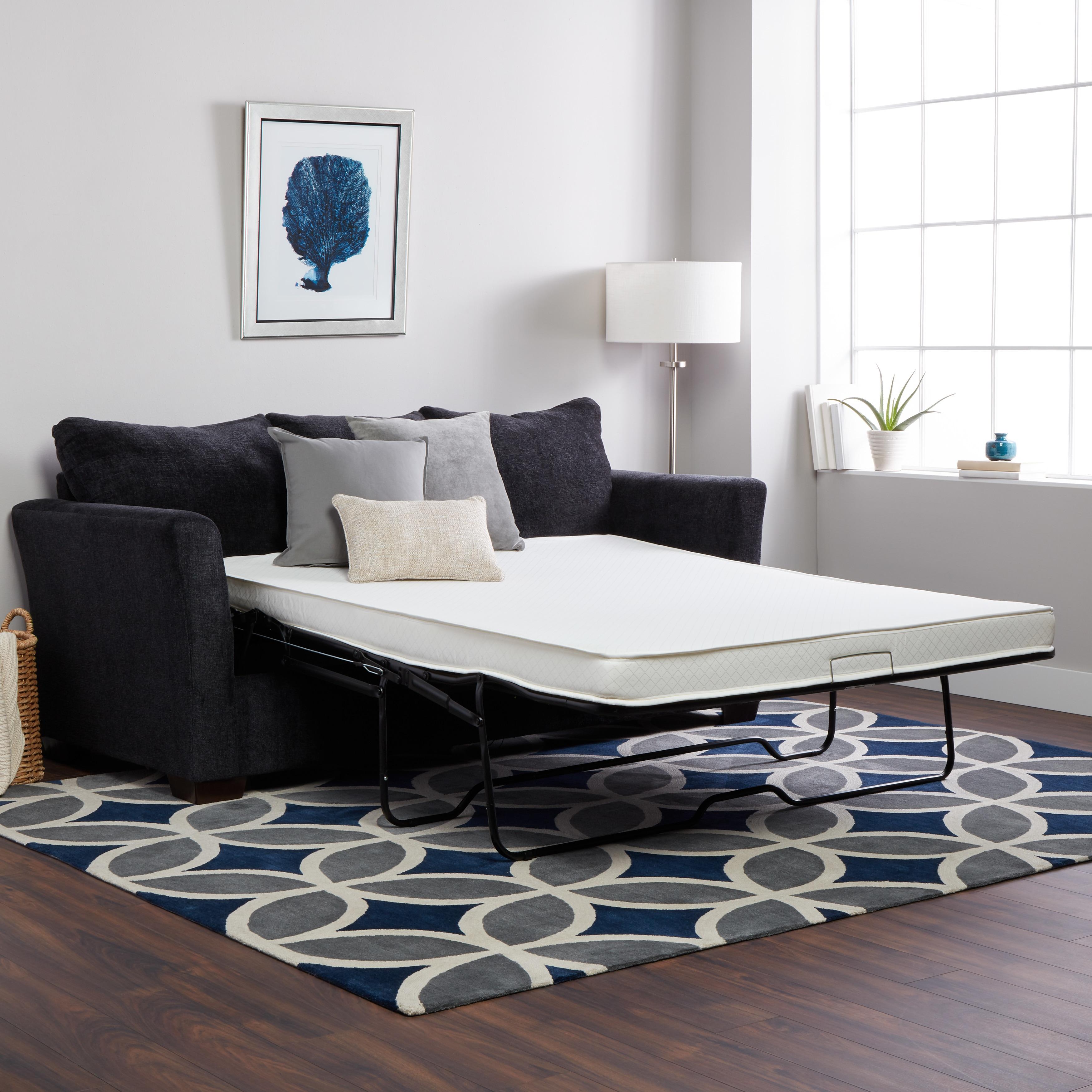 Shop Select Luxury Flippable 4 Inch Full Size Foam Sofa Sleeper