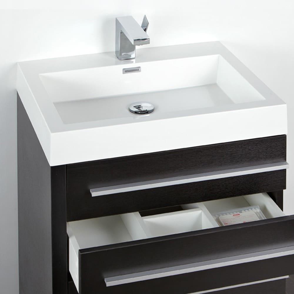 Fresca Livello 24 Inch Black Bathroom Vanity And Medicine Cabinet Free Shipping Today 5522828