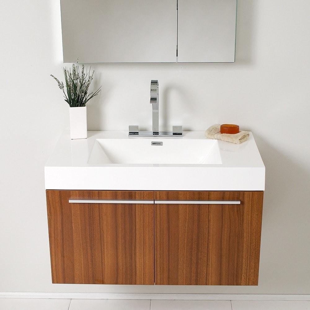 Genial Fresca Vista Teak Bathroom Vanity And Medicine Cabinet   Free Shipping  Today   Overstock.com   13302514