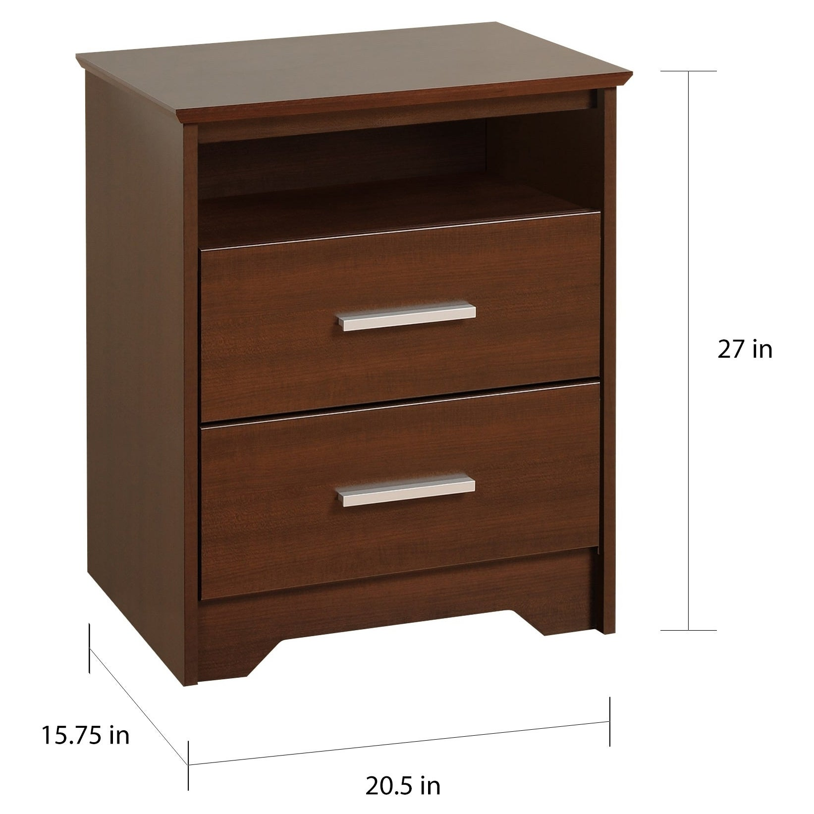 fab10abc622 Shop Yaletown 2-drawer Tall Espresso Night Stand - Free Shipping Today -  Overstock - 5522888