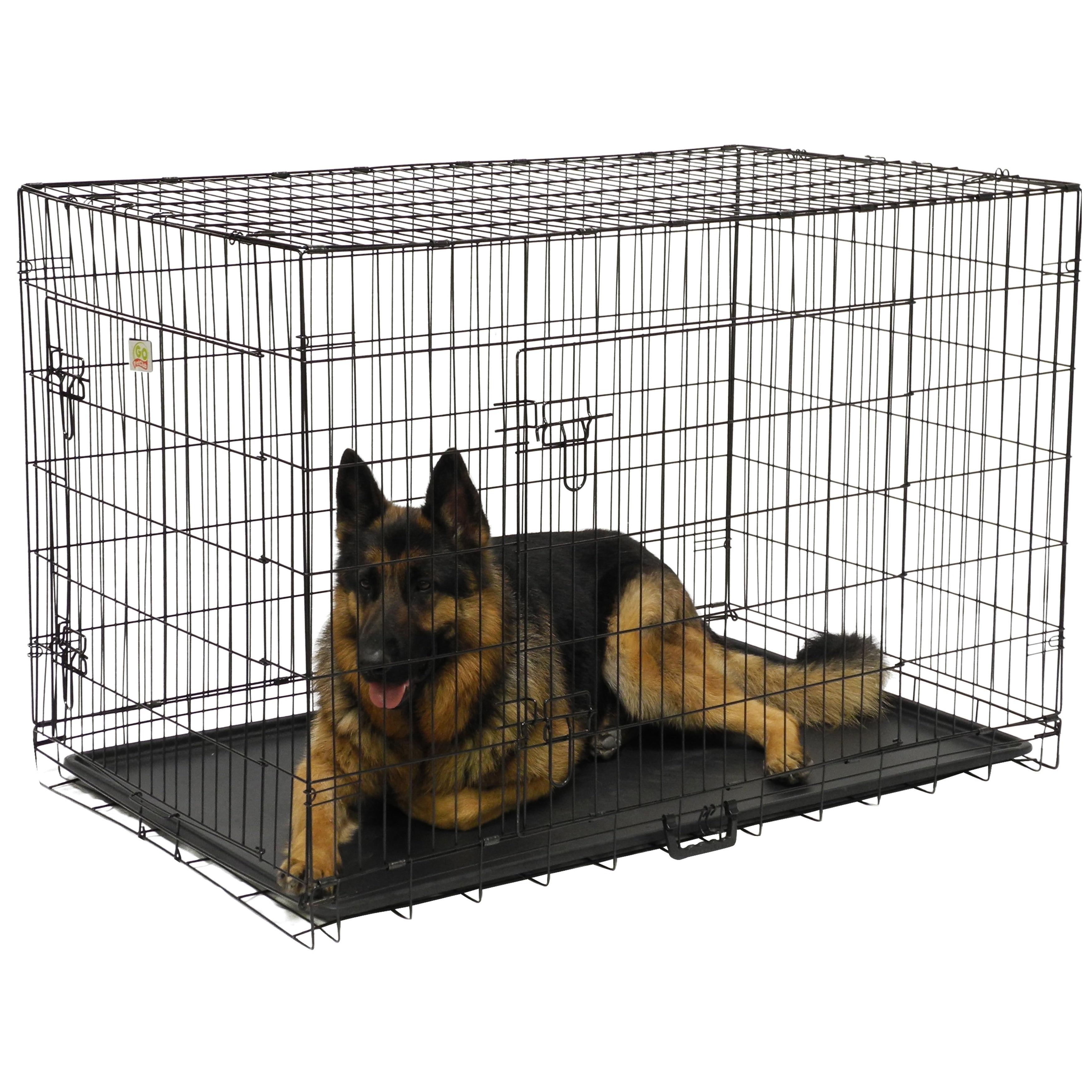 Gopetclub 48 Inch 2 Door Folding Metal Dog Crate W Divider Free