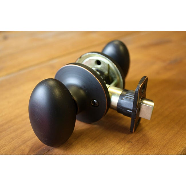 Sure-Loc Vintage Bronze Egg-shaped Passage Door Knob - Free Shipping ...
