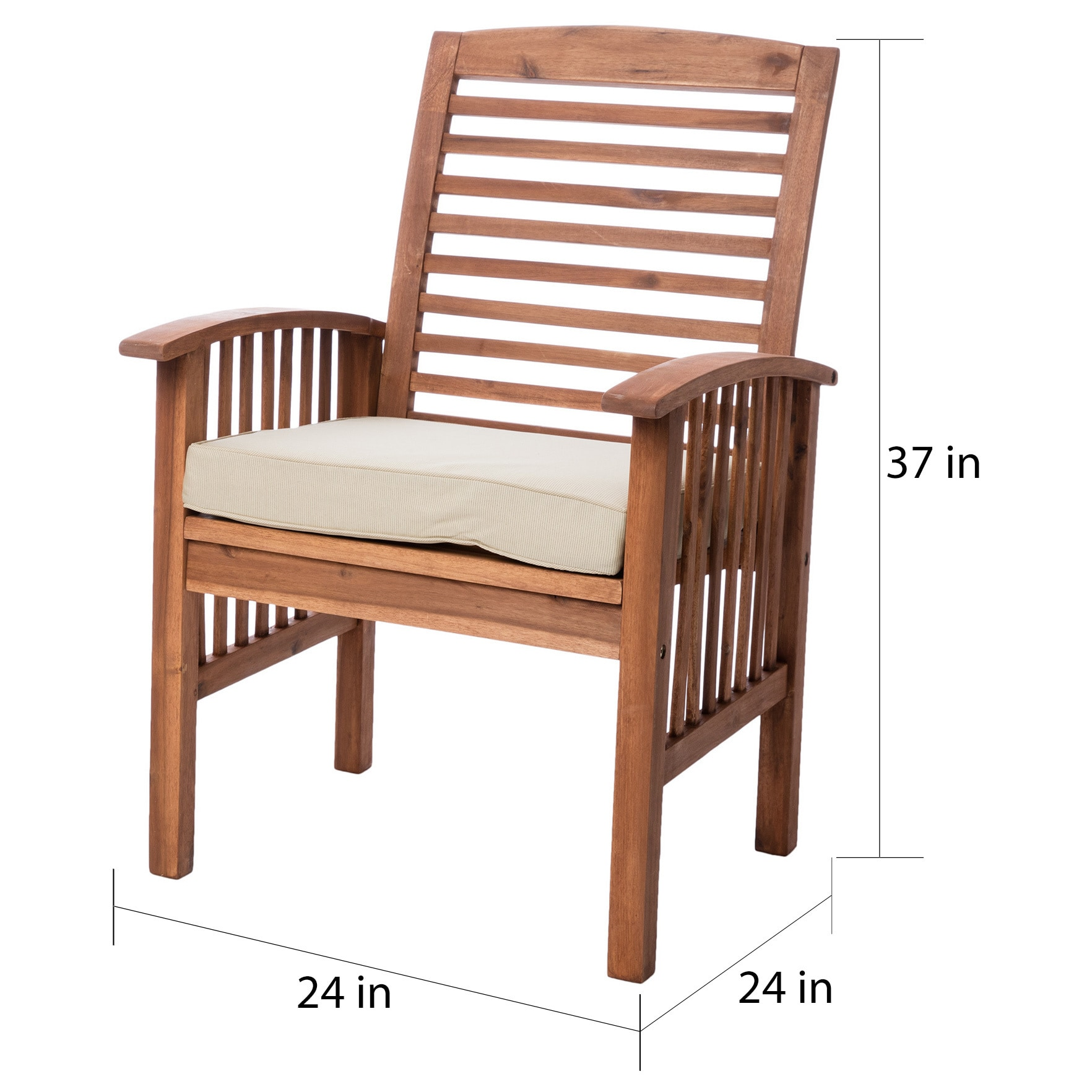 Acacia Wood 4 piece Patio Set Free Shipping Today Overstock