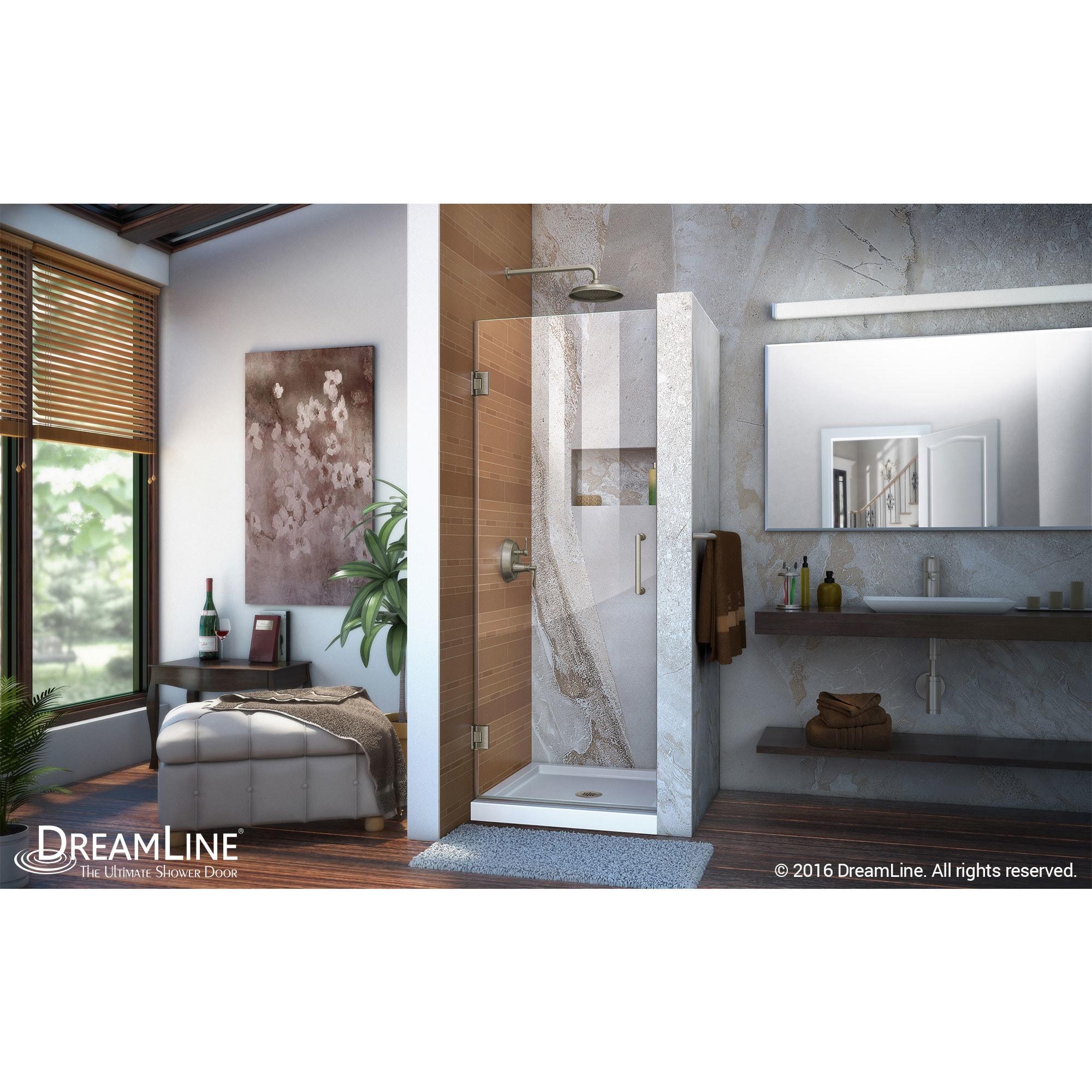 Shop Dreamline Unidoor 24 In Frameless Hinged Shower Door Free