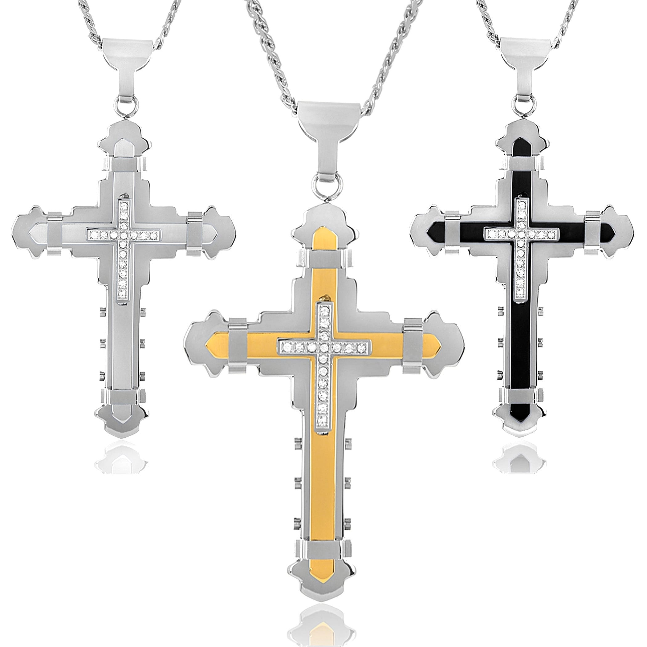 14k Gold Overlay Decorated and Engraved Cross Heavy Plated Religious