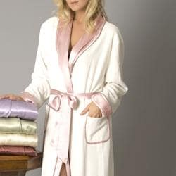 Shop Julianna Rae Women s  Heavenly Spa  Silk Terry Reversible Robe - Free  Shipping Today - Overstock - 5568592 5c66cdd20