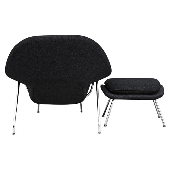Shop Wool Womb Chair And Ottoman   Free Shipping Today   Overstock.com    5568854