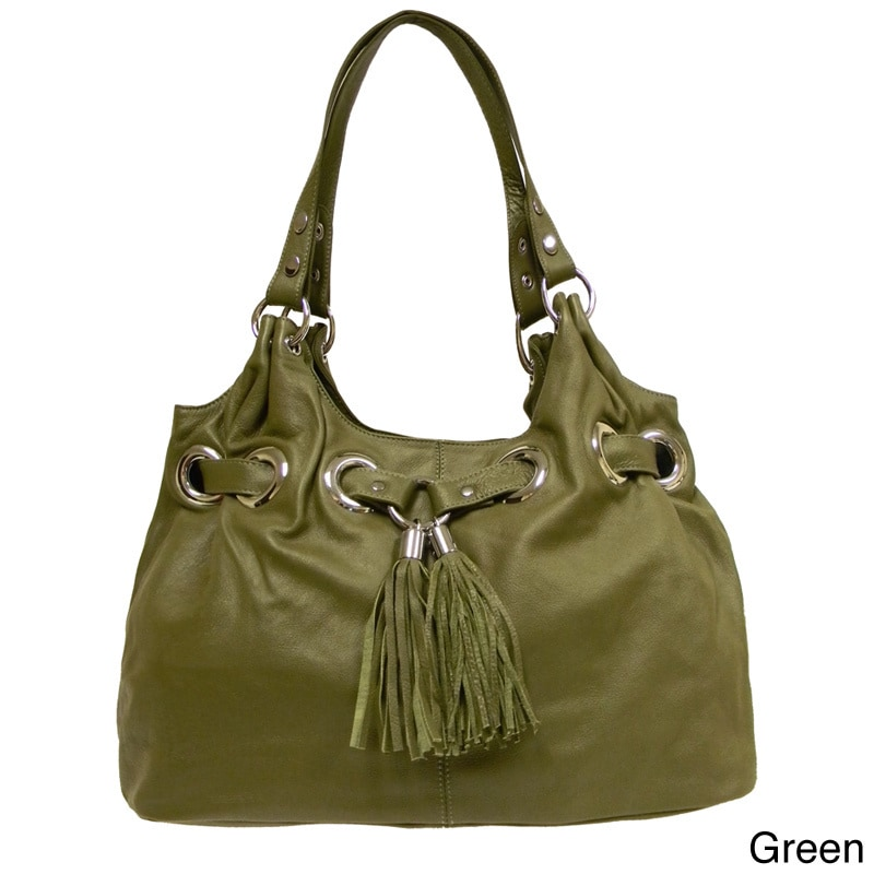 5525de57516 Shop Donna Bella Designs 'Zara' Leather Tote Bag - On Sale - Free Shipping  Today - Overstock - 5581141