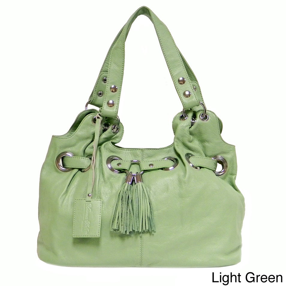 Shop Donna Bella Designs Zara Leather Tote Bag On Sale Free Double Strap Shipping Today 5581141