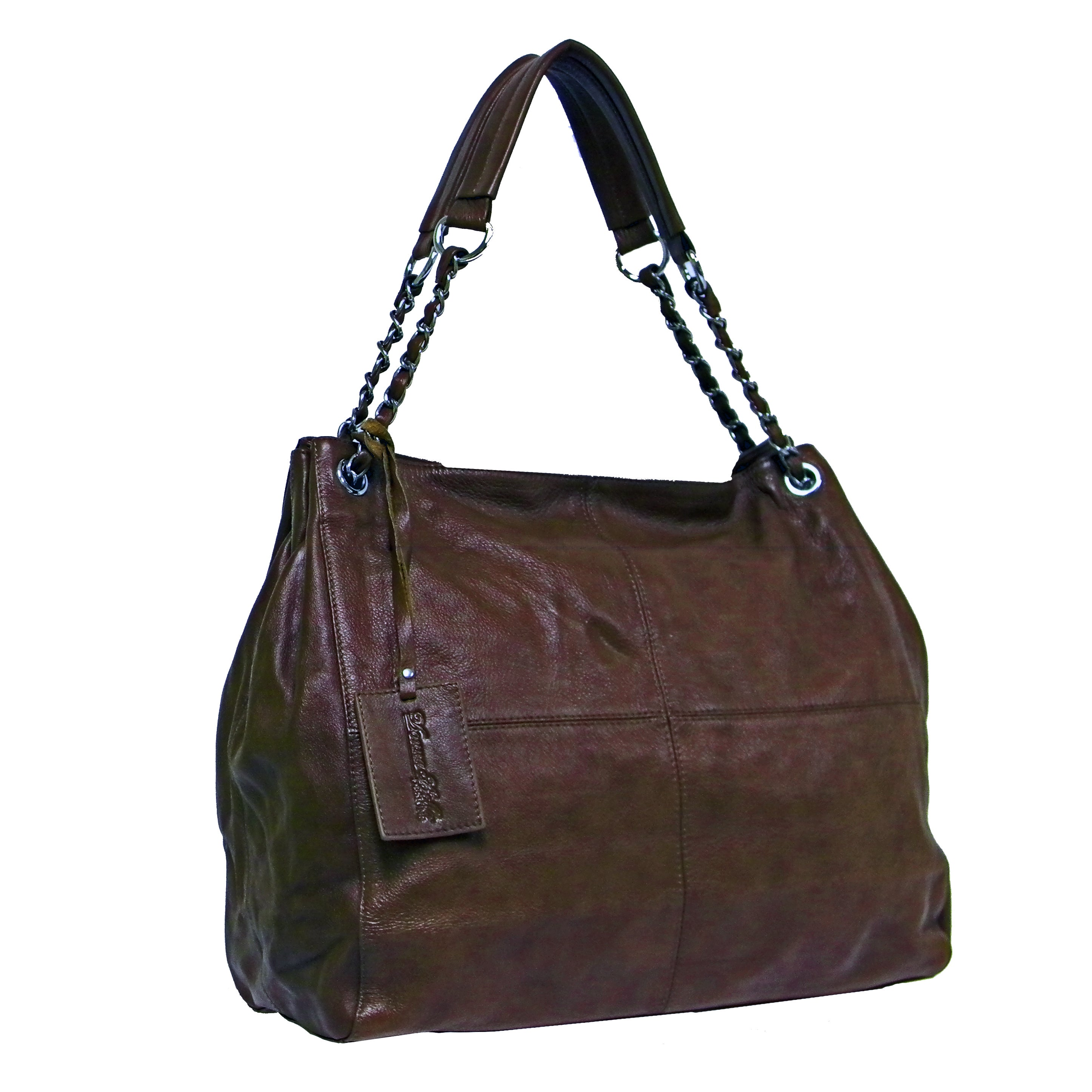 4d4fb89565 Shop Donna Bella Designs 'Slick' Medium Leather Tote Bag - Free Shipping  Today - Overstock - 5581143