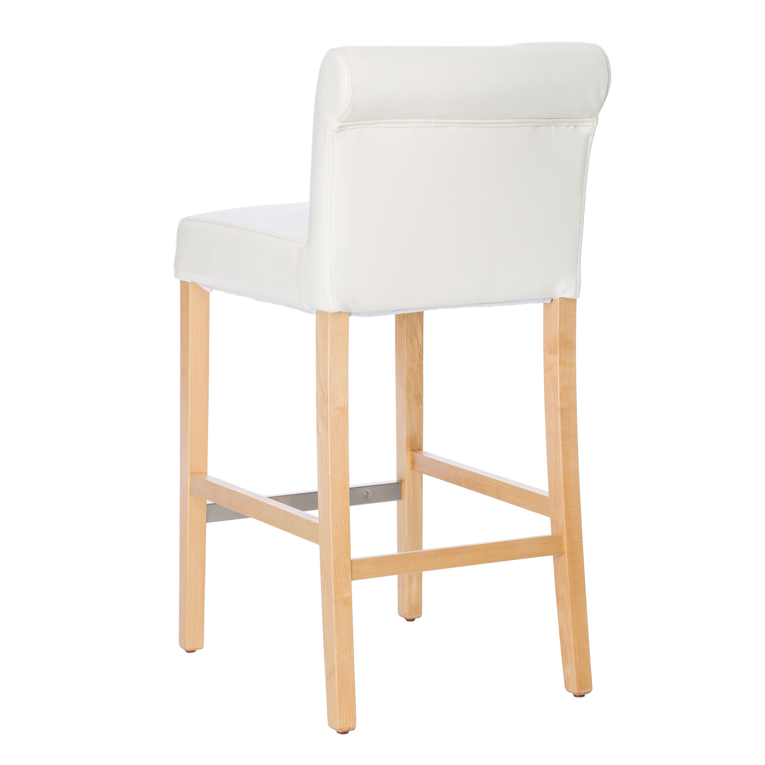 Shop copper grove cosmopolitan modern white bicast leather counter stools set of 2 free shipping today overstock com 5594692