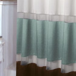 Shop Marin Aquamarine And Brown Shower Curtain