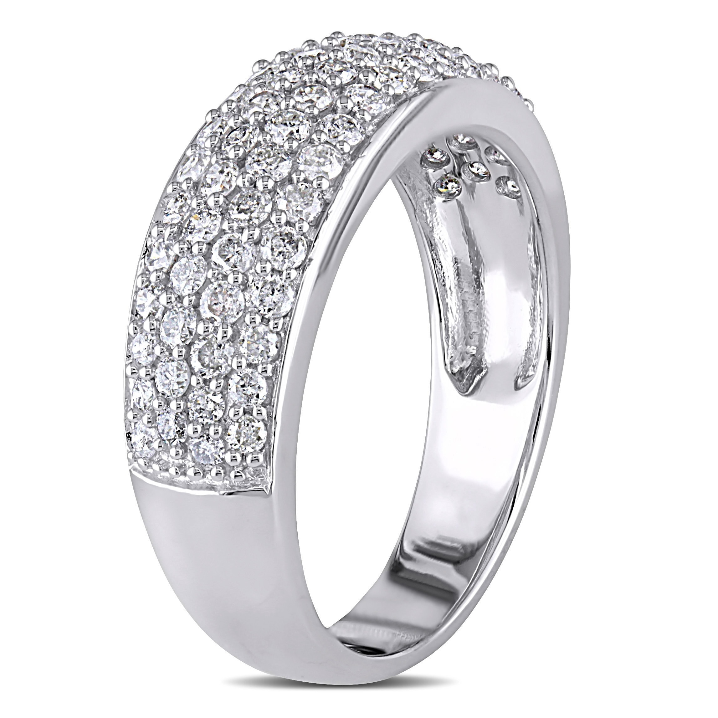 diamond round pave set engagement rings ring ritani micro channel