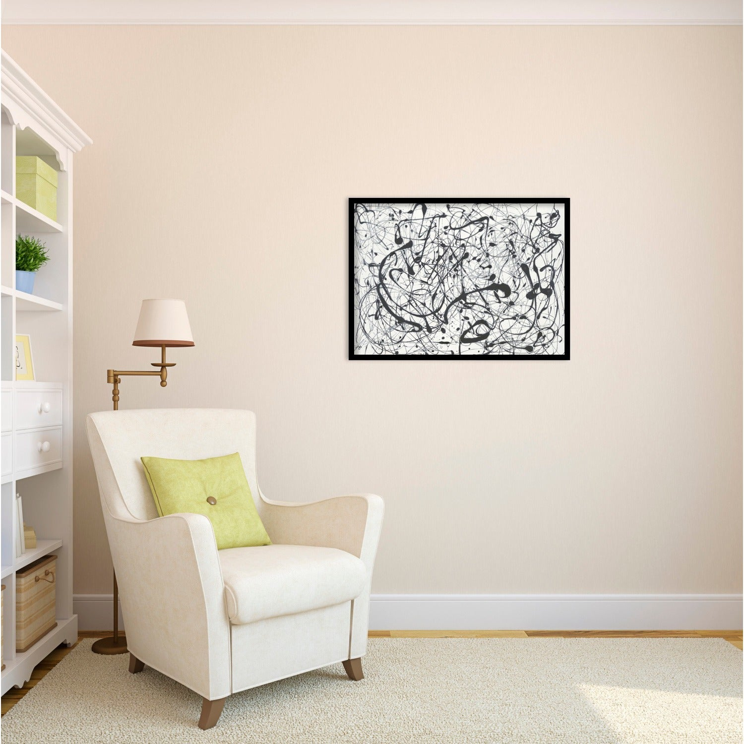 Framed Art Print \'Number 14-Gray\' by Jackson Pollock - Free Shipping ...
