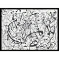 Framed Art Print 'Number 14:Gray' by Jackson Pollock 29 x 22-inch