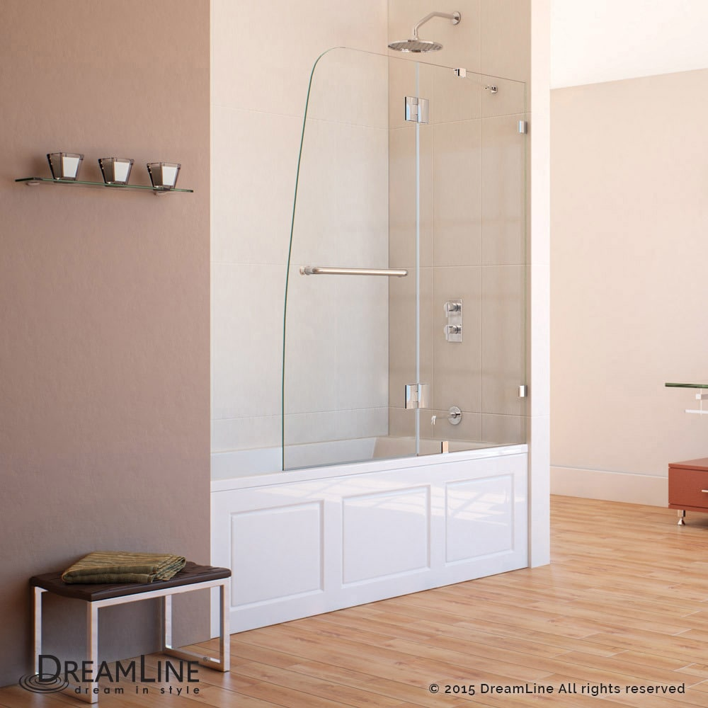 DreamLine Aqua Lux 48 in. Frameless Hinged Tub Door - Free Shipping ...