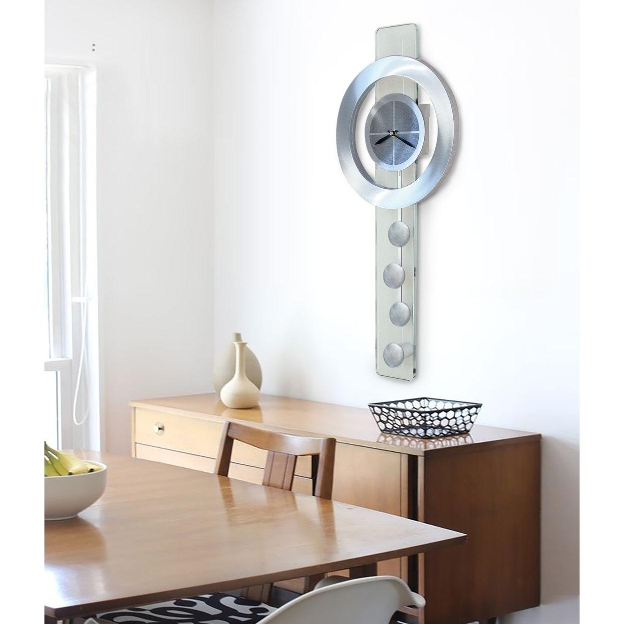 Shop Jon Gilmore Designs Juggling Time Silver Pendulum Wall Clock