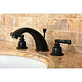 French Handle Oil Rubbed Bronze Widespread Bathroom Faucet