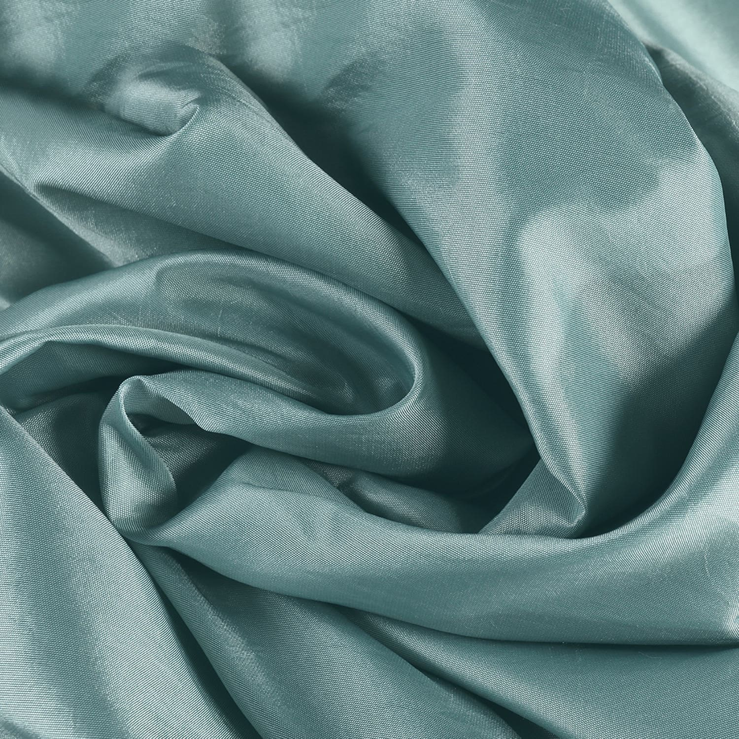65196c0a1ec Shop Exclusive Fabrics Solid Faux Silk Taffeta Robin s Egg Curtain Panel -  On Sale - Free Shipping Today - Overstock - 5624146