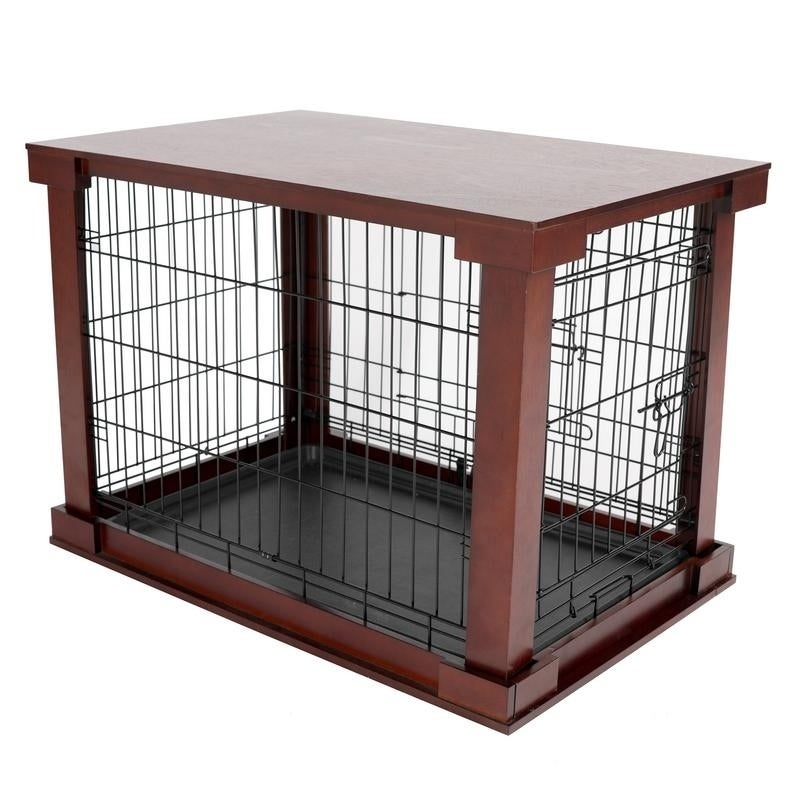 shop wooden pet crate and side table by merry products free shipping today overstockcom 5637145 - Dog Crate Side Tables