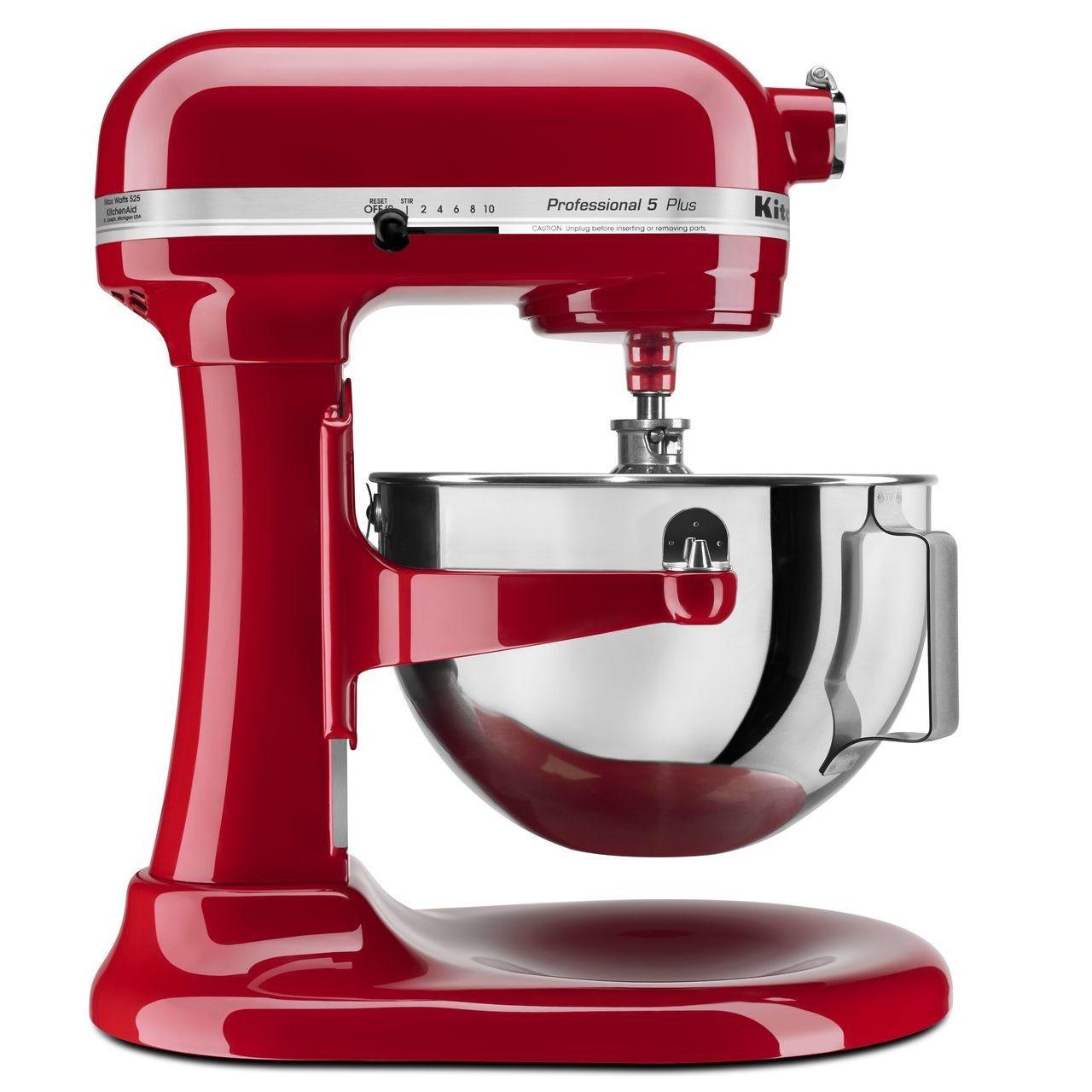 shop kitchenaid rkv25g0x 5 quart pro 5 plus bowl lift stand mixer