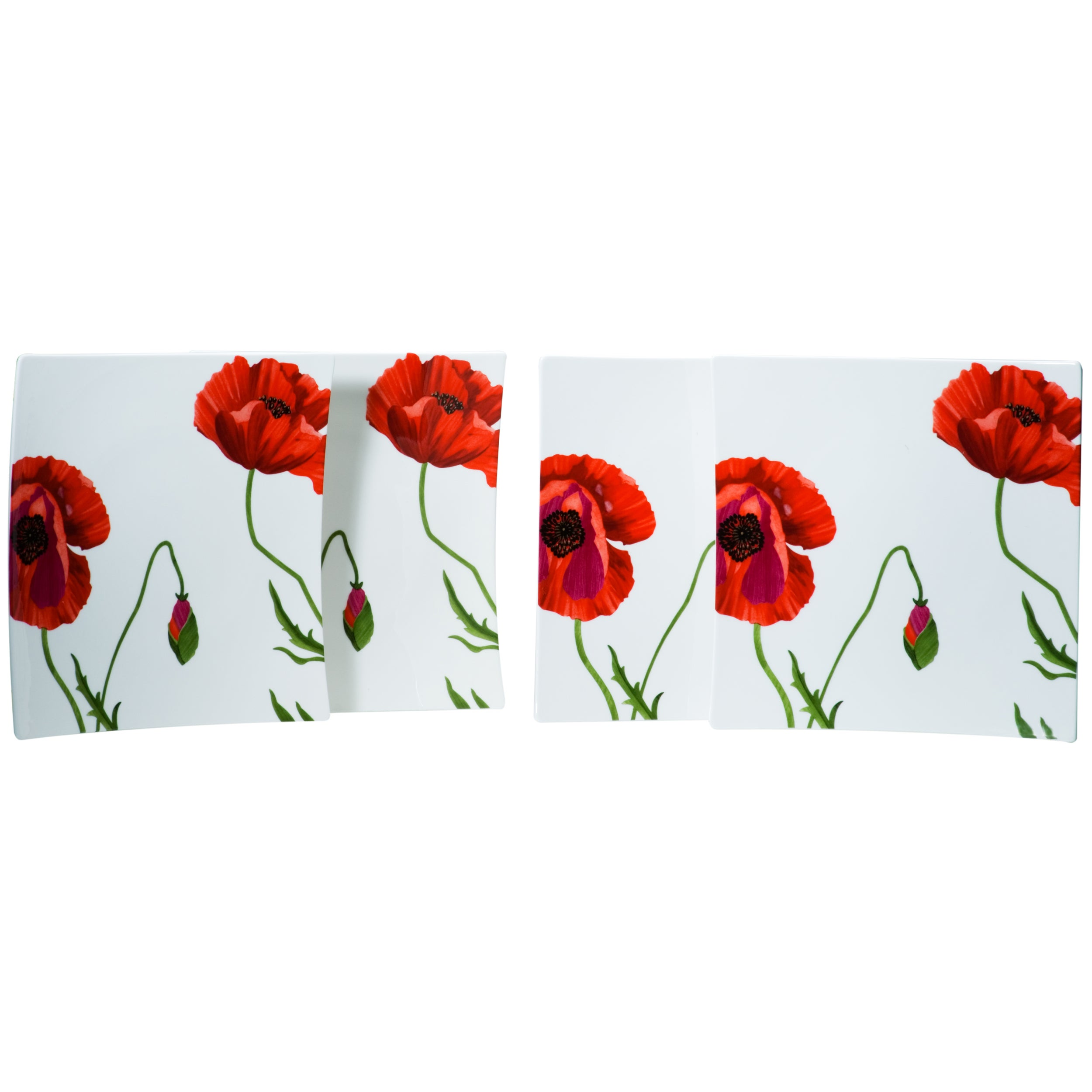 Red Vanilla \'Summer Sun\' Square Dinner Plates (Set of 4) - Free ...
