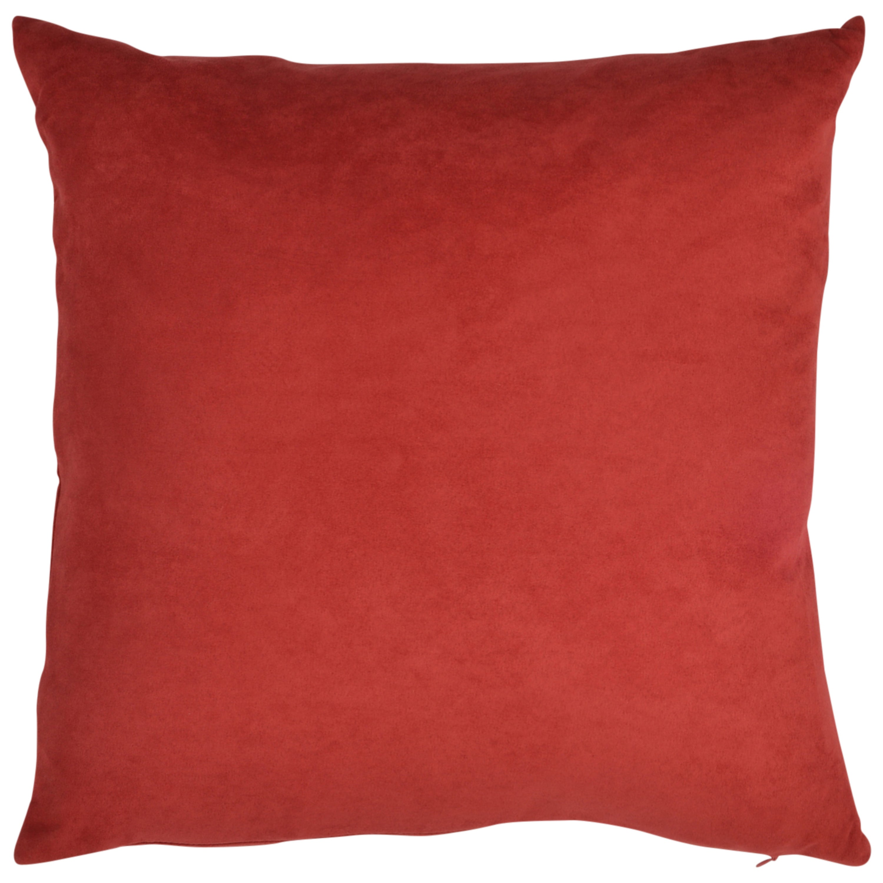 designer with medium flange velvet x pillow throw solid pillows self hand red crafted products