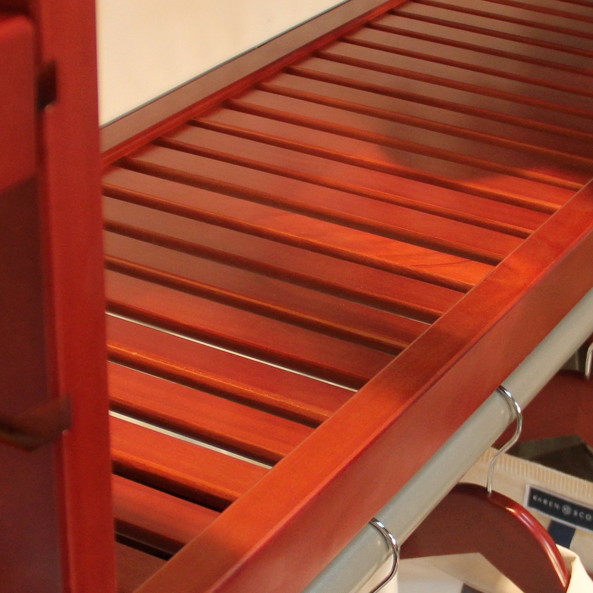 John Louis Home 12in Deep Solid Wood Premier Organizer Red Mahogany Free Shipping Today 5647103