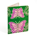 Handmade Leather Green Butterfly Passport Cover (India)