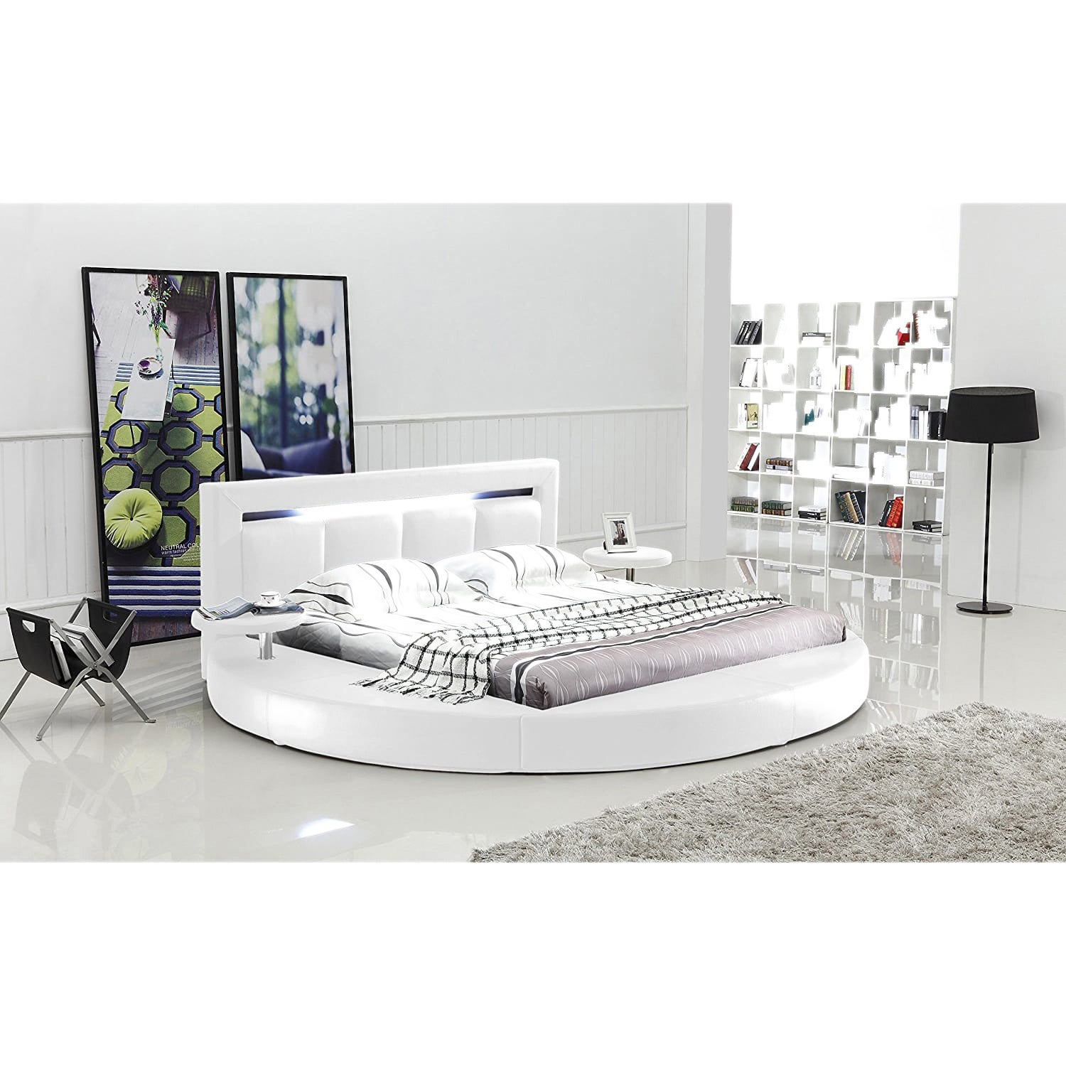 round web black special mattress challenges in circular furniture blog a la having modern what bed makes