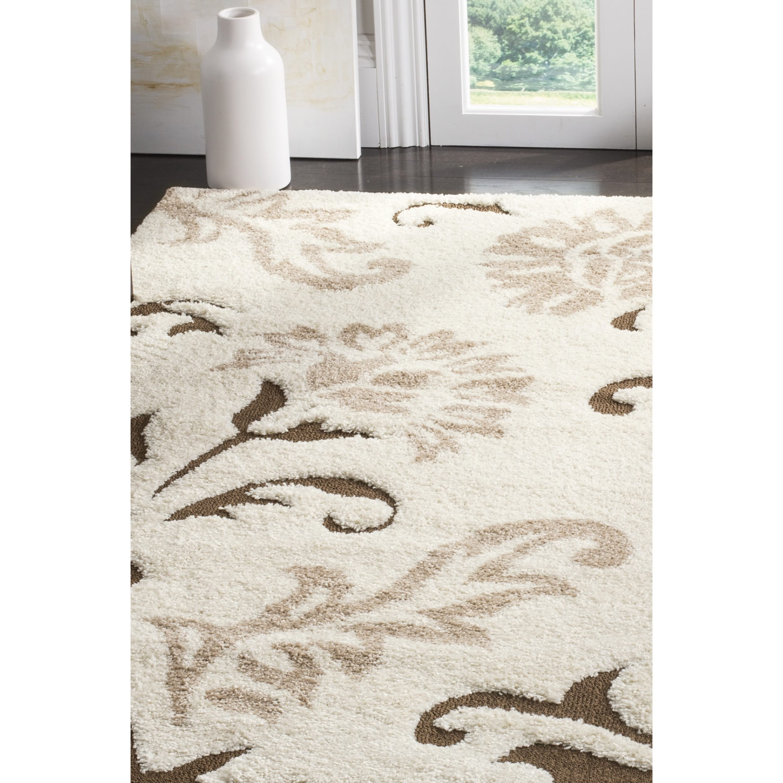 Safavieh Florida Elegant Cream Dark Brown Area Rug 8 X 10