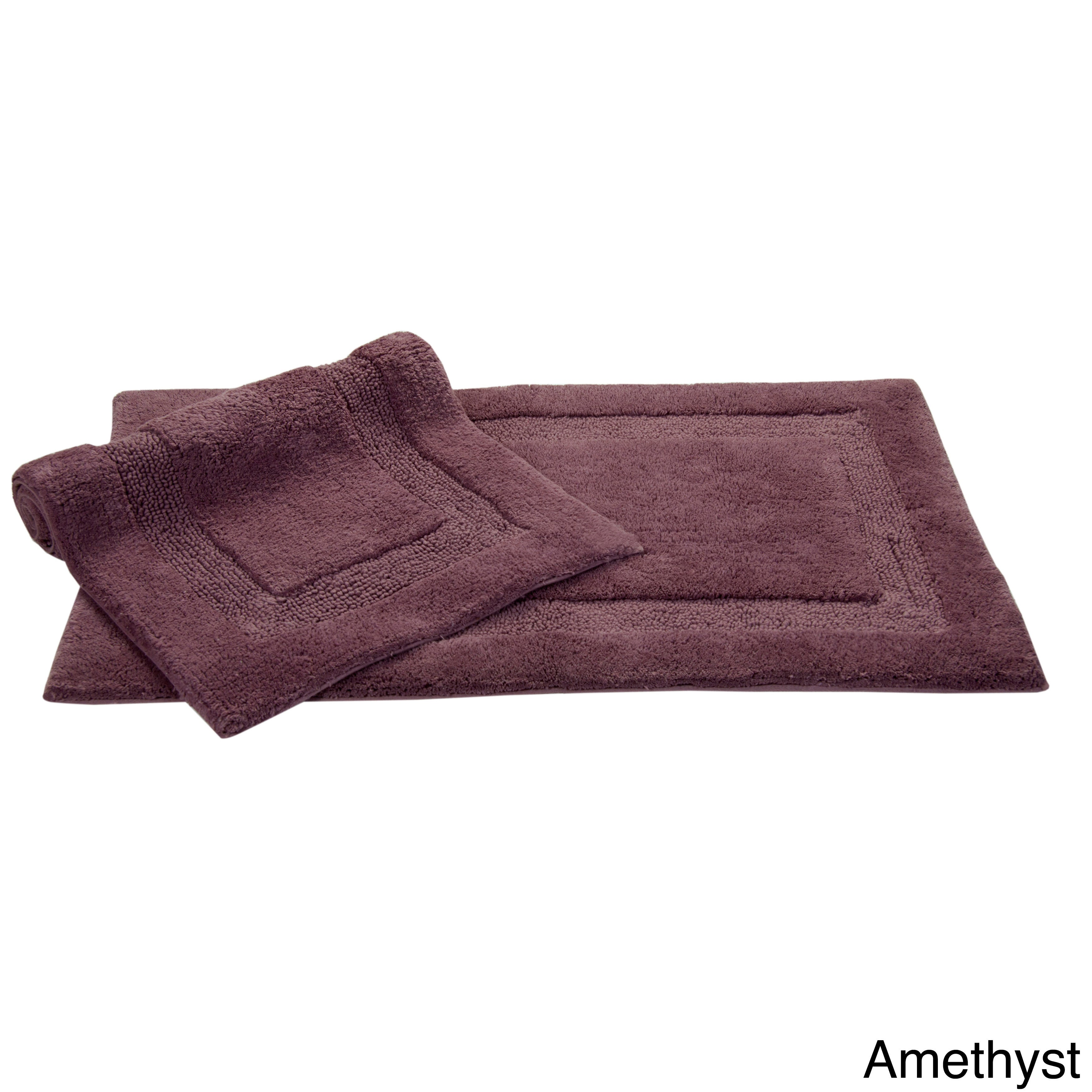 Nuevo Collection Cotton Non Skid Latex Backing 2 Piece Bath Rug Set Includes Bonus Step Out Mat Free Shipping Today Com 5677350