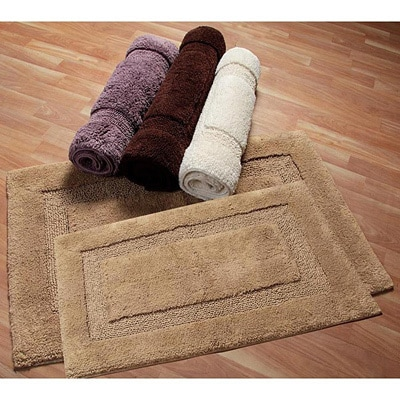 Nuevo Collection Cotton Non Skid Latex Backing 2 Piece Bath Rug Set Includes Bonus Step Out Mat Free Shipping On Orders Over 45 Com