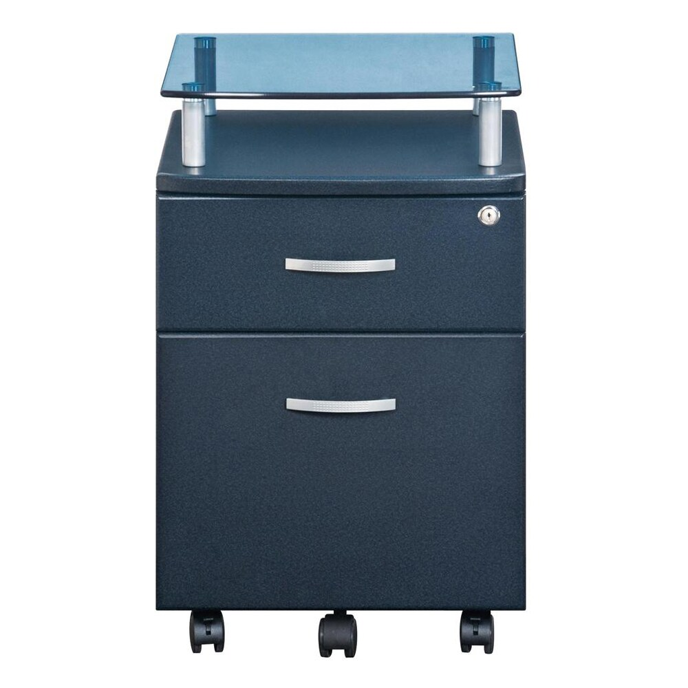 Genial Shop Deluxe Glass Top Rolling Hanging File Cabinet   Free Shipping Today    Overstock.com   5677814