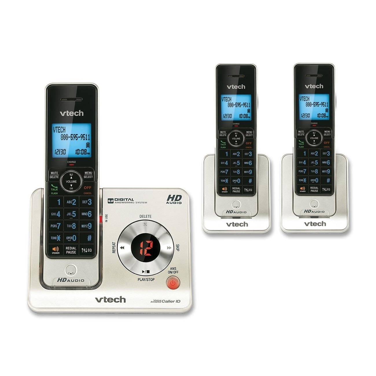 a76bd1005 Shop VTech LS6425-3 DECT 6.0 Expandable Cordless Phone with Answering System  and Caller ID Call Waiting