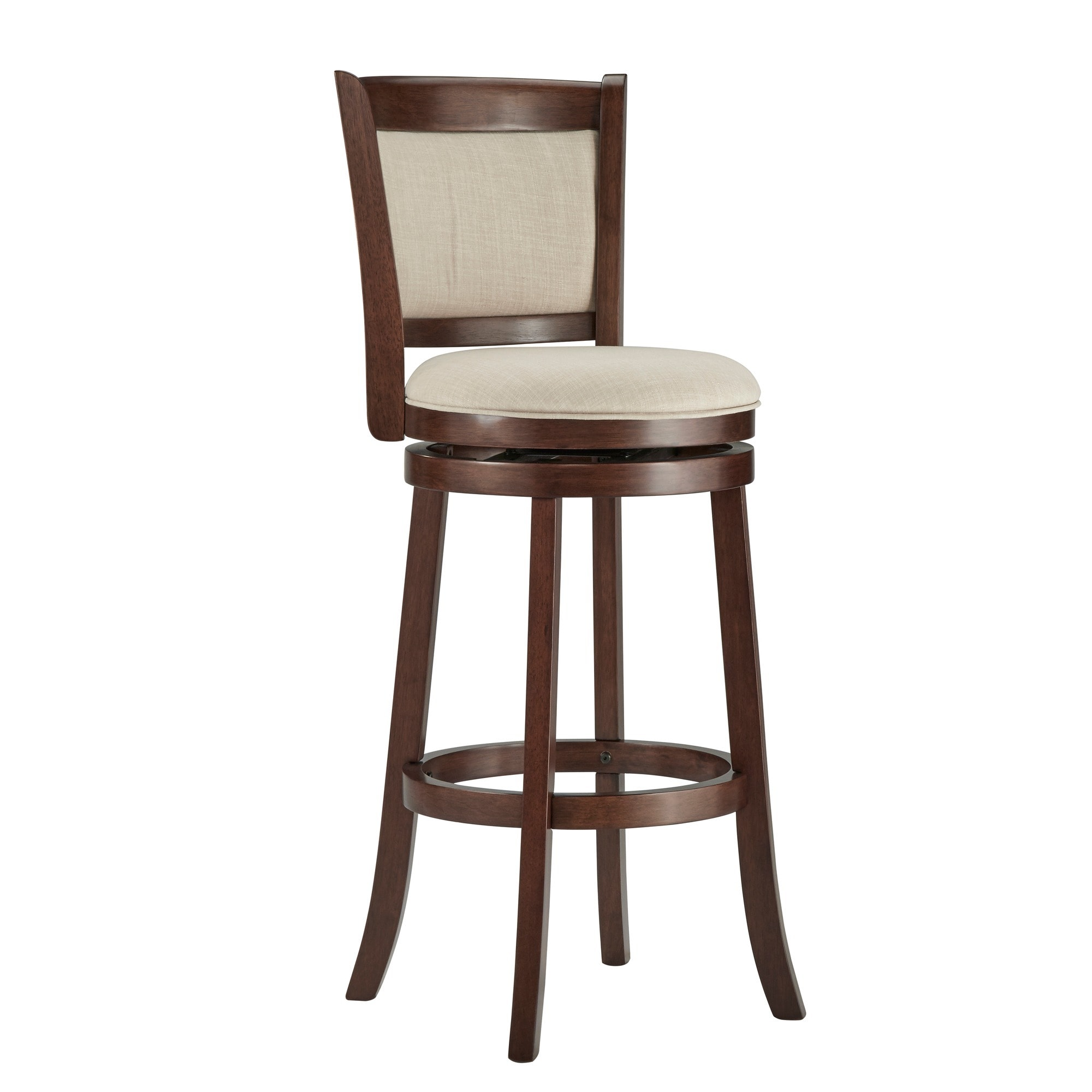 Verona Panel Back Linen Swivel 29-inch High Back Bar Stool by iNSPIRE Q  Classic - Free Shipping Today - Overstock.com - 13431195