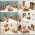 Six Room Dollhouse Furniture Kit