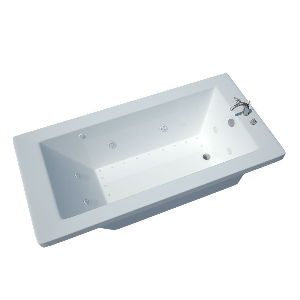Shop Atlantis Venetian White Whirlpool Tub - Free Shipping Today ...